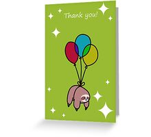 """Thank You"" Sloth Greeting Card"