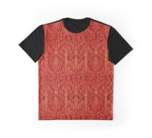 Gossamer Web of Delicate Metal Red Strands Intricate Background Graphic T-Shirt