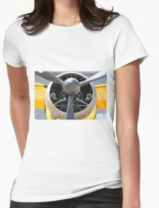 Bristol Mercury 870 hp engine, propeller of Army Co-operation single engine Westland Lysander III aircraft. Womens Fitted T-Shirt