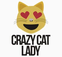 Crazy Cat Lady Emoji Kids Tee