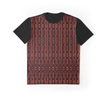 Strands and Stripes of Metallic Red on Black Background Graphic T-Shirt