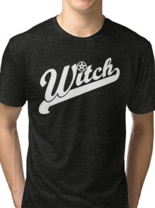 WITCH sport lettering Tri-blend T-Shirt