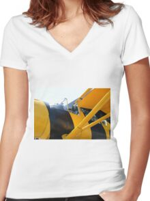 Army Co-operation single engine Westland Lysander III aircraft cockpit. Women's Fitted V-Neck T-Shirt