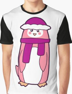 Pink Penguin Graphic T-Shirt