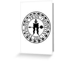 Boston: The Freedom Trail: Black Print Greeting Card