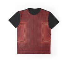 Red Black Tribal Squares and Arrow Pattern Graphic T-Shirt