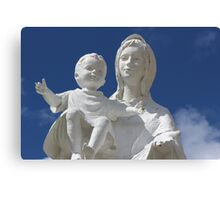 Statue of Mary and Baby Canvas Print