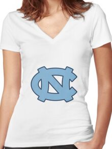 unc Women's Fitted V-Neck T-Shirt