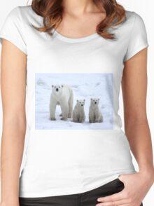 Family Portrait #1 - Polar Bears, Churchill, Canada Women's Fitted Scoop T-Shirt