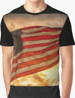 American Sunset On Fire Graphic T-Shirt