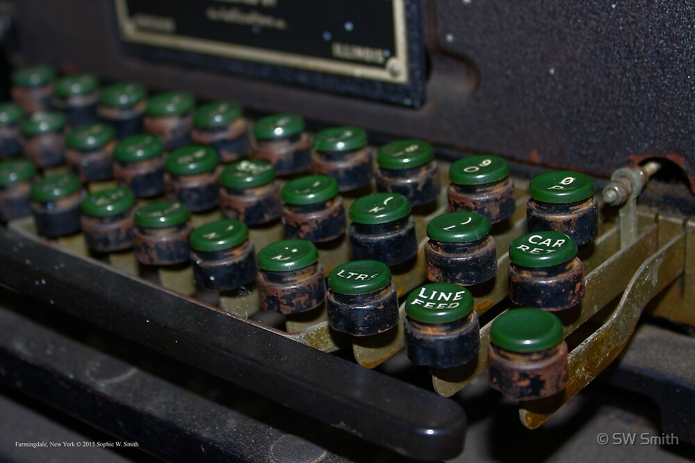 WWII Mechanical Typewriter Detail - American Airpower Museum | Farmingdale, New York by © Sophie W. Smith