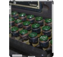 WWII Mechanical Typewriter Detail - American Airpower Museum | Farmingdale, New York iPad Case/Skin