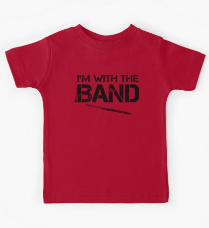 I'm With The Band - Flute (Black Lettering) Kids Tee