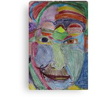 Portrait of Carl Jung: a rainbow of acceptance Canvas Print
