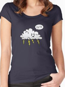 Angry Cloud Women's Fitted Scoop T-Shirt