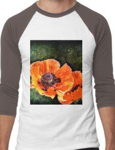Oriental Poppies family Men's Baseball ¾ T-Shirt