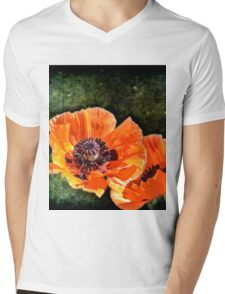Oriental Poppies family Mens V-Neck T-Shirt