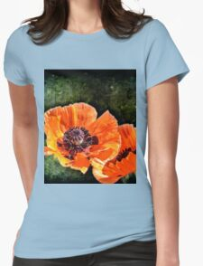 Oriental Poppies family Womens Fitted T-Shirt