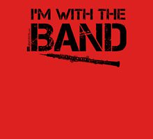 I'm With The Band - Oboe (Black Lettering) Womens Fitted T-Shirt