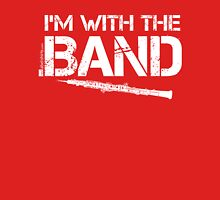 I'm With The Band - Oboe (White Lettering) Womens Fitted T-Shirt