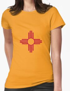 Flag of New Mexico Womens Fitted T-Shirt