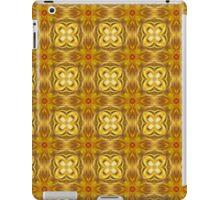 Golden Floret Pattern iPad Case/Skin