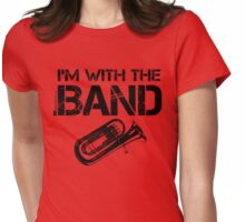 I'm With The Band - Baritone (Black Lettering) Womens Fitted T-Shirt