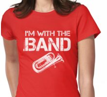 I'm With The Band - Baritone (White Lettering) Womens Fitted T-Shirt