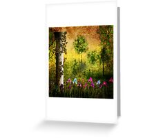 Texture Of Grunge. Abandoned garden. Greeting Card