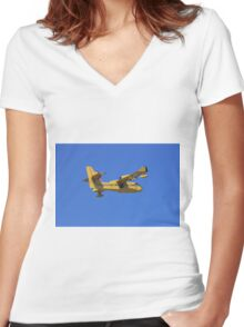 Search, rescue and water bomber aircraft. Women's Fitted V-Neck T-Shirt