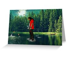you can walk on water don't look down Greeting Card