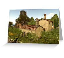 a lovely day on the Mediterranean coast Greeting Card