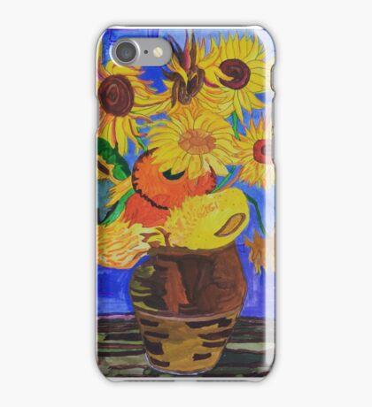 Van Gogh's Sunflowers by Carla iPhone Case/Skin