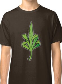 Pot Leaf Weed Middle Finger Flipping Off Classic T-Shirt