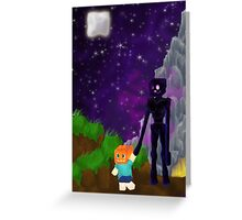 Enderfriend- A Minecraft Fanart Greeting Card