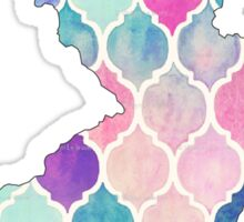 New Jersey Purple, Pink, Blue pattern Sticker