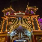 Melbourne's Luna Park at Night by susanzentay