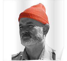 Steve Zissou Red Cap Poster