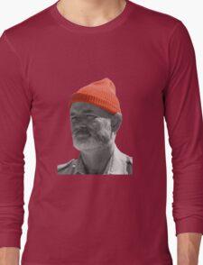 Steve Zissou Red Cap Long Sleeve T-Shirt