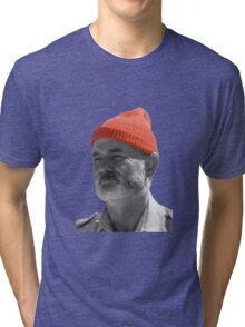 Steve Zissou Red Cap Tri-blend T-Shirt