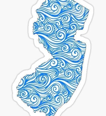 New Jersey Waves Sticker