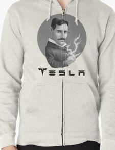 Nikola Tesla Motors Zipped Hoodie