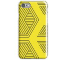 Halftone Pattern Yellow iPhone Case/Skin