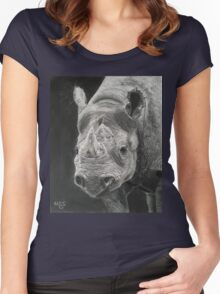 """Sumatran Beauty"" Women's Fitted Scoop T-Shirt"