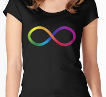 Autistic Pride Symbol Women's Fitted Scoop T-Shirt