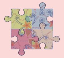 Puzzle symbol of autism Kids Tee