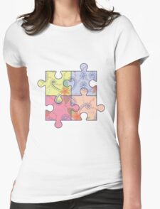 Puzzle symbol of autism Womens Fitted T-Shirt