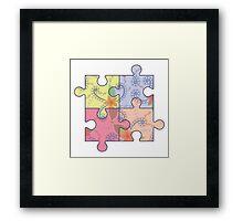Puzzle symbol of autism Framed Print