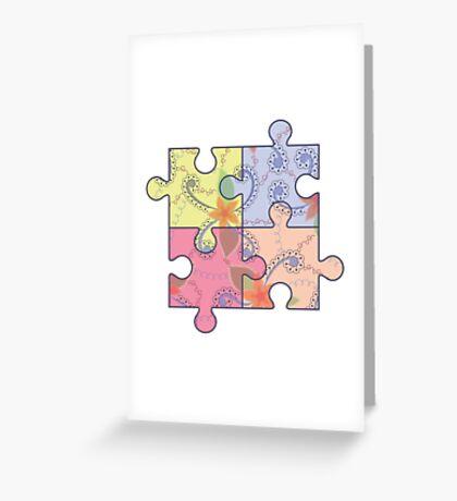 Puzzle symbol of autism Greeting Card