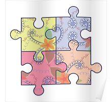 Puzzle symbol of autism Poster